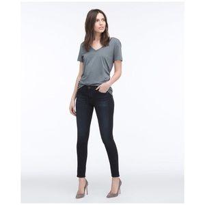 AG Ankle Legging Skinny Blue Jeans Cropped 30 Coal